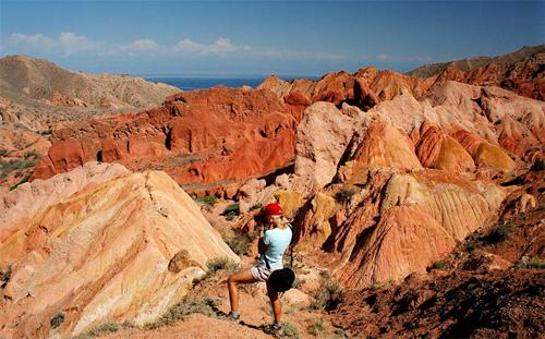 """Skazka"" gorge, South shore of Issyk-Kul lake"