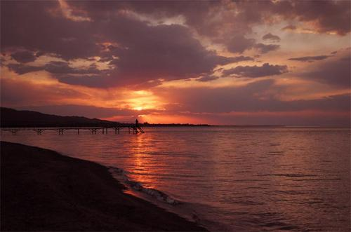 Sunset at Issyk Kul