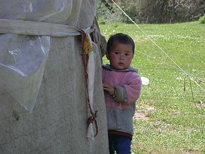Friendly Kyrgyz girl