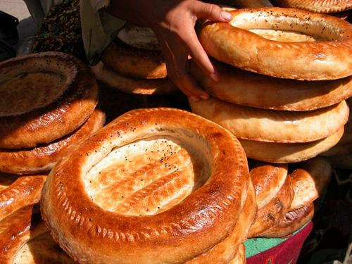 Lipioshka, delicious central Asian bread